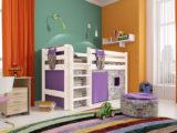 """Детская кровать """"СОНЯ 11"""" низкая с прямой лестницей"""