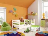 """Детская кровать """"СОНЯ 4"""" с защитой по центру и выкатными ящиками"""